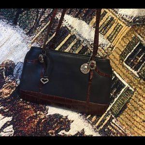 Brighton's One World Black Leather Bag